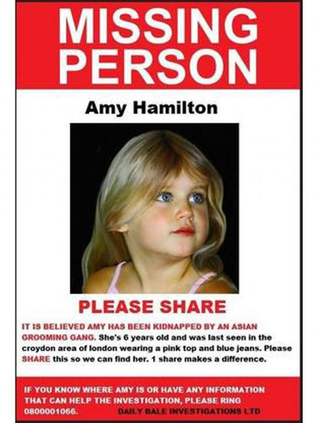 Missing 'Amy Hamilton' poster circulating on social media revealed ...
