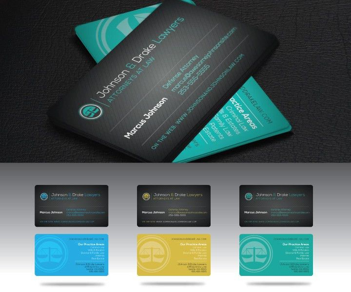 Attorney Business Card Template - Free Download   PrintToKill.com ...