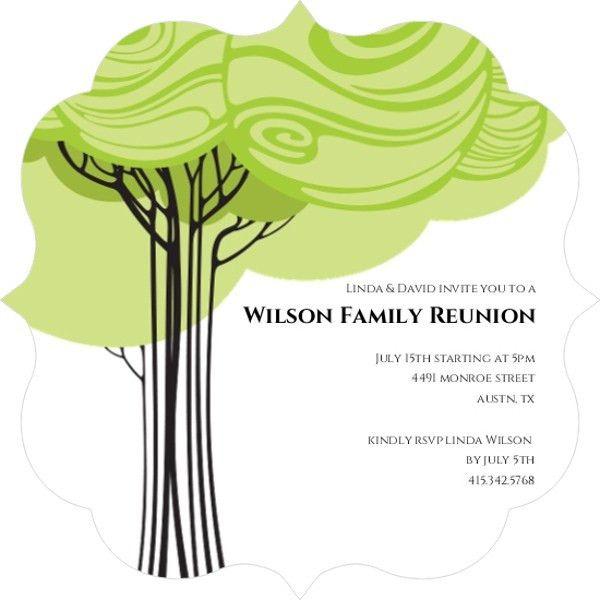 Swirly Family Tree Reunion Invitation | Reunion Invitations