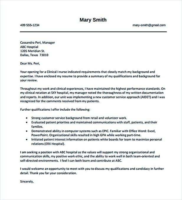 10+ Nursing Cover Letter Sample – How to Write Perfect Format ...