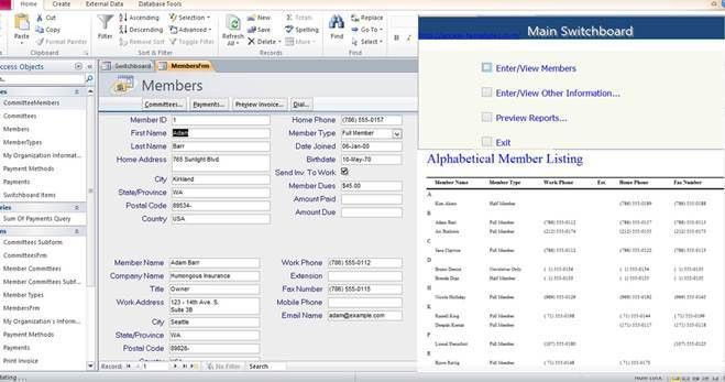 Microsoft Access 2010 Database Templates for MS Access in Many ...
