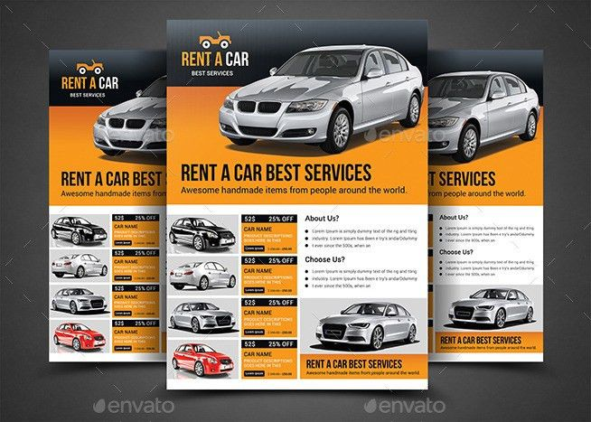 Rent a Car Flyer Template by afjamaal | GraphicRiver