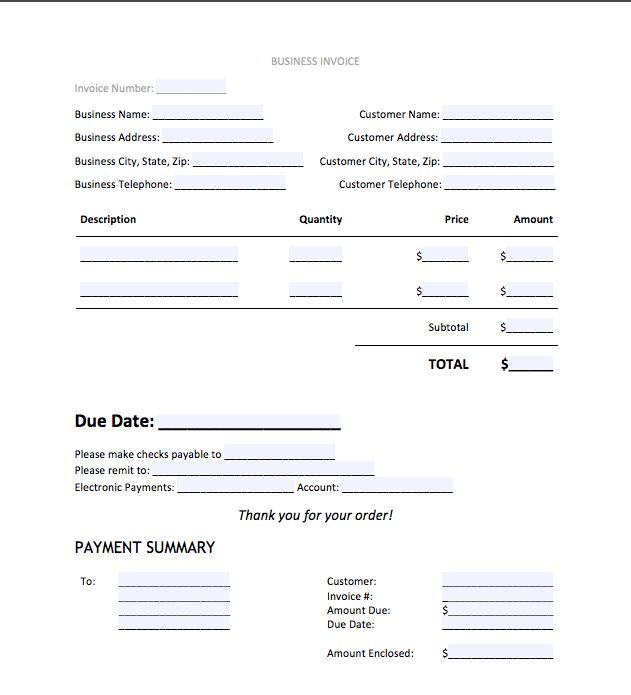 Top 5 Best Invoice Templates to use for Business | Top Form ...