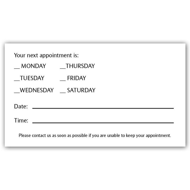 8 Best Images of Appointment Reminder Postcard Template - Free ...