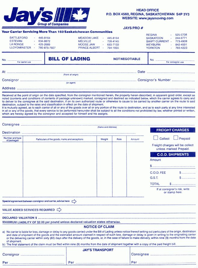 10+ what is bill of lading | Letter Template Word