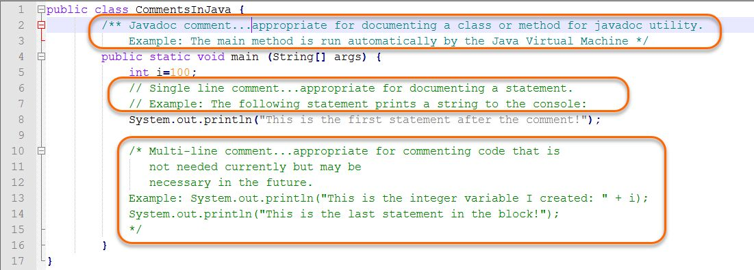 How to Write Comments in Java | Webucator