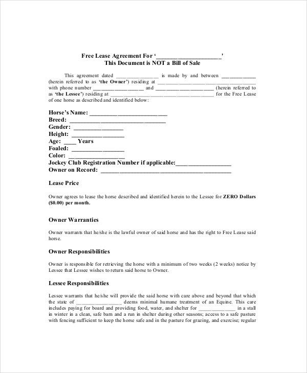 Lease Agreement - 8+ Free Word, PDF Documents Download | Free ...
