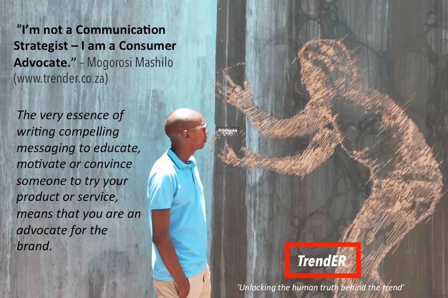 I AM NOT A COMMUNICATION STRATEGIST - I AM A CONSUMER ADVOCATE ...