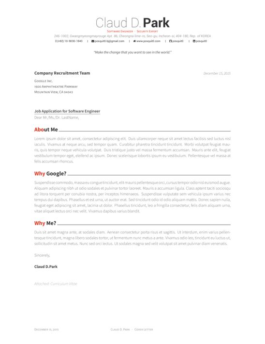 Awesome CV Cover Letter - LaTeX Template - ShareLaTeX, Online ...