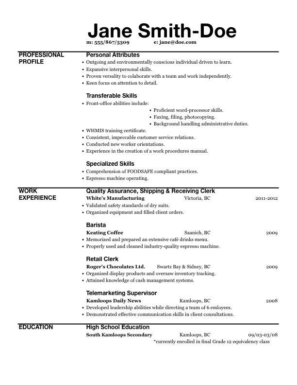 Resume Examples. Inspiring 10 best resume excel template free ...
