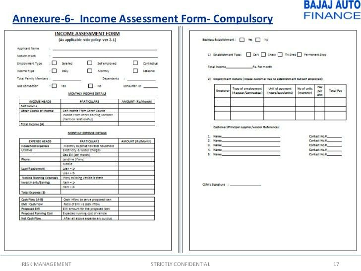 Ms word income assessment form template word document templates – Principal Evaluation Form