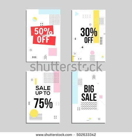 Sale Website Banners Design Set Social Stock Vector 502633369 ...