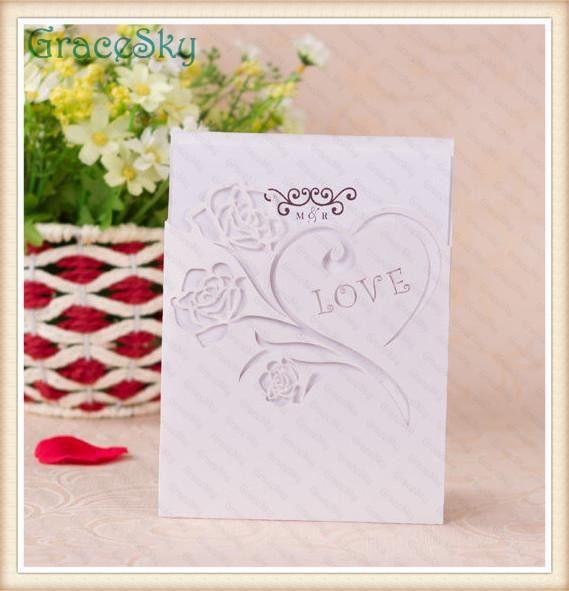 2017 Laser Cut Paper Heart Love Design Hollow Out Wedding Birthday ...