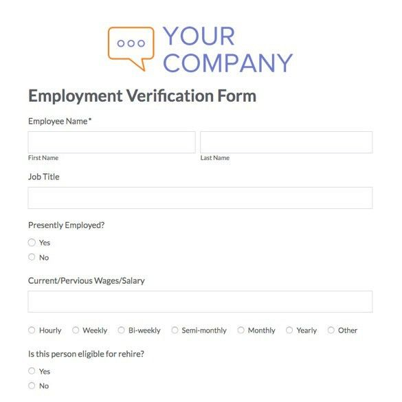 8+ Employment Verification Form Template | Nypd ResumeVerification ...