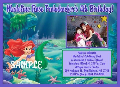Little Mermaid Birthday Invitations Ideas – Bagvania FREE ...