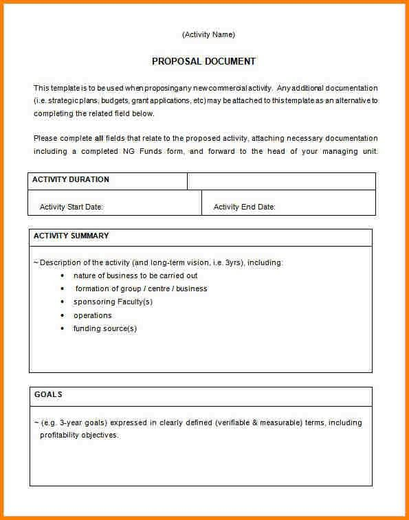 Business Proposal Document Template | Jobs.billybullock.us