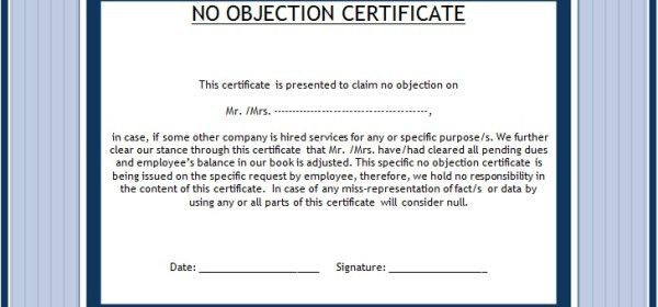 No Objection Letter For Employee | Samples.csat.co