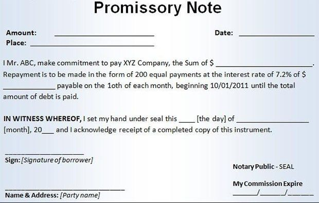 Promissory Notes. Structure Of Promissory Note 10/21/13 Promissory ...