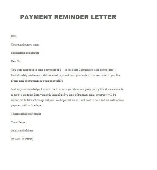 Reminder Letter Sample | The Best Letter Sample