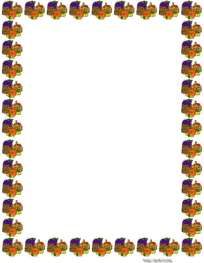 Thanksgiving Borders | Thanksgiving Border Paper | creative ...