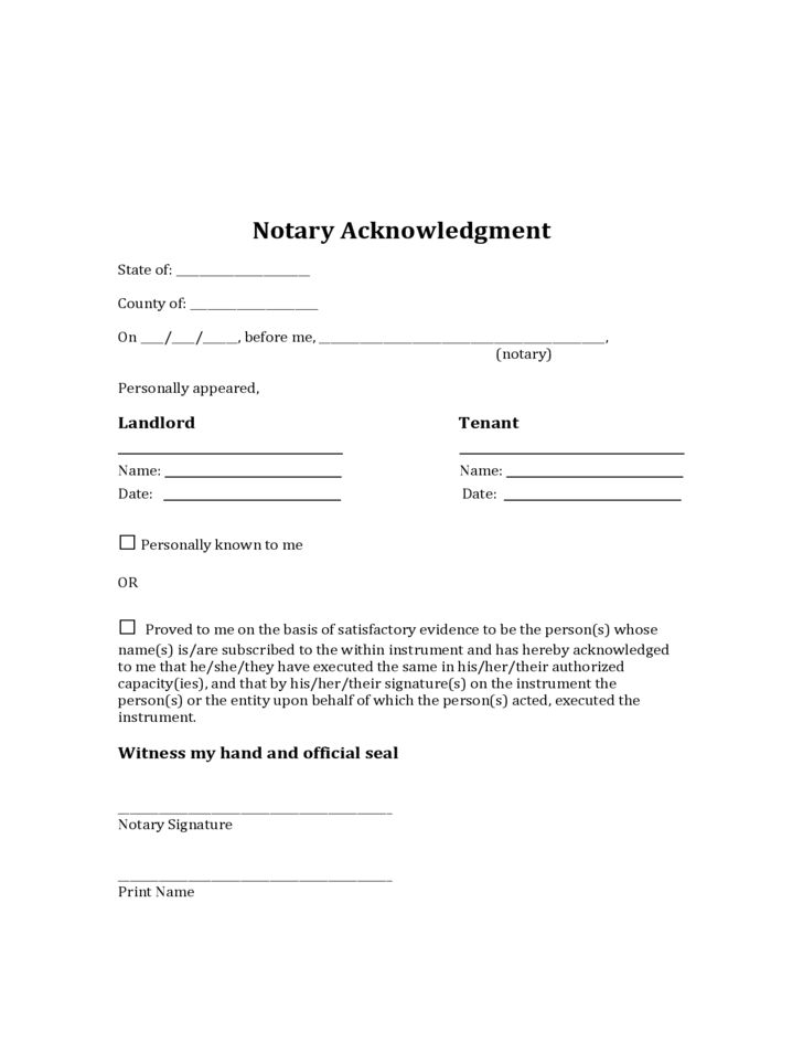 Arizona Sublease Agreement Form Free Download