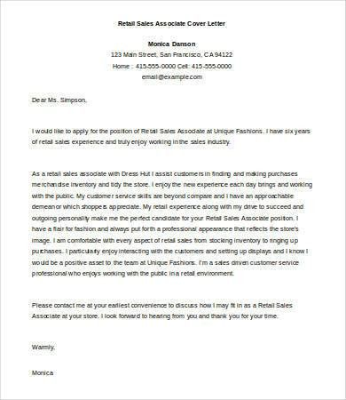 Sales Cover Letter - 9+ Free Word, PDF Documents Download   Free ...