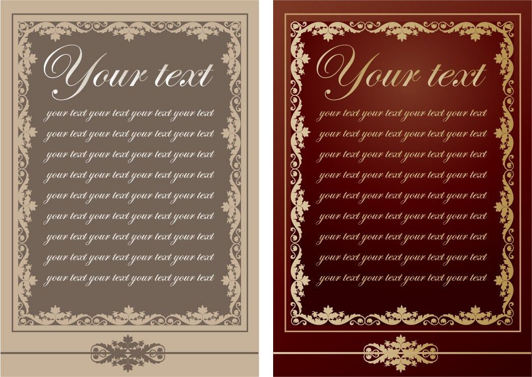 Europeanstyle lace pattern vector menu templates Free Vector / 4Vector
