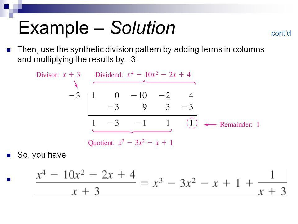 Polynomial Long Division and Synthetic Division - ppt video online ...