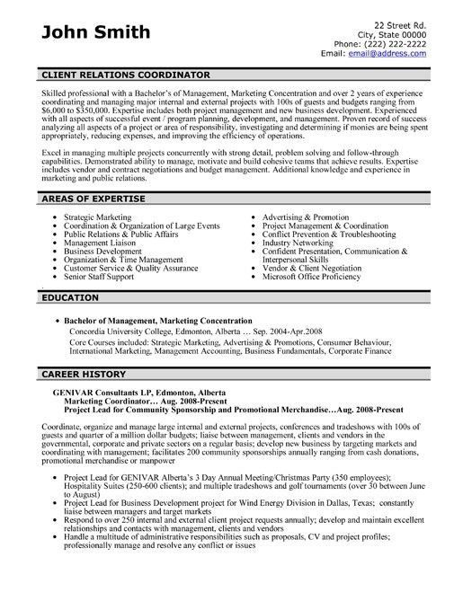 Marketing Coordinator Resume Sample | jennywashere.com