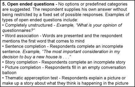 2.2 Quantitative research. An example: survey