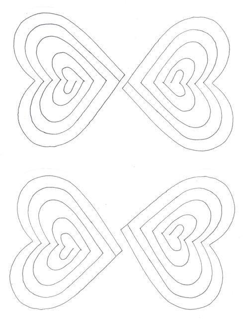 Spiral Heart Pop Up Card Template | Paper fun | Pinterest | Card ...