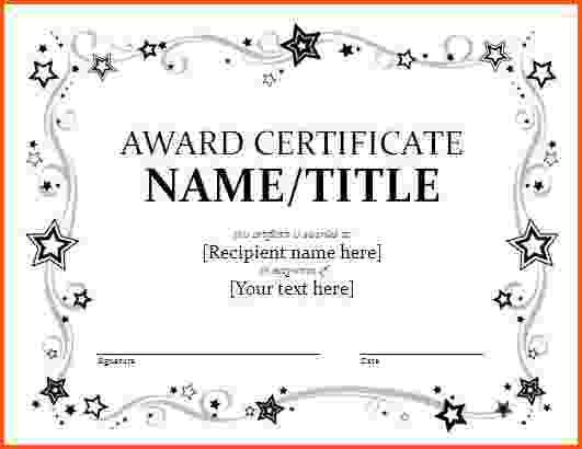 7+ award certificate template word | Survey Template Words
