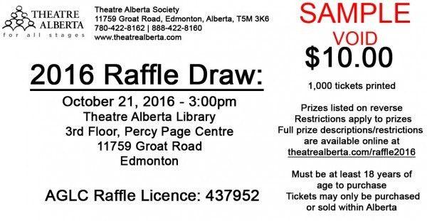 Fundraiser (Alberta): Raffle Tickets On Sale Now! – Theatre ...