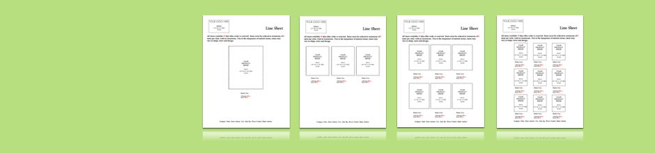 Line Sheet Templates - Buyers Packet