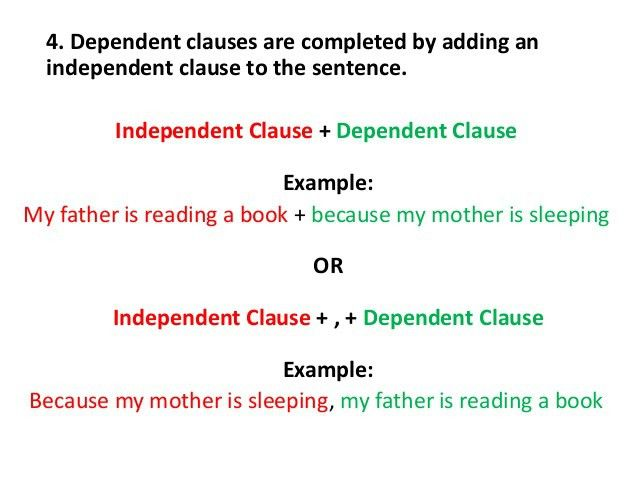 English: Parts of a Sentence - Independent & Dependent Clauses