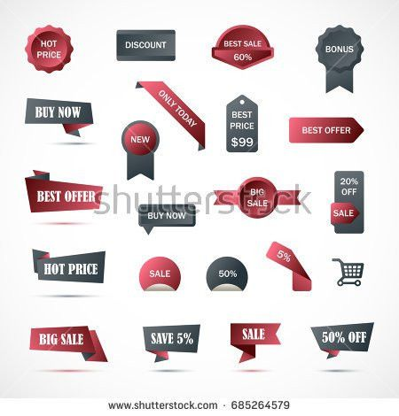Vector Stickers Price Tag Banner Label Stock Vector 456019546 ...