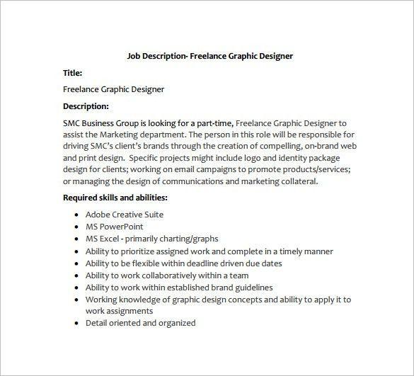 Graphic Designer Job Description Template - 10+ Free Word, PDF ...