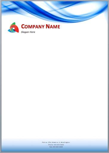Blue Waves Letterhead Template | Printable Templates