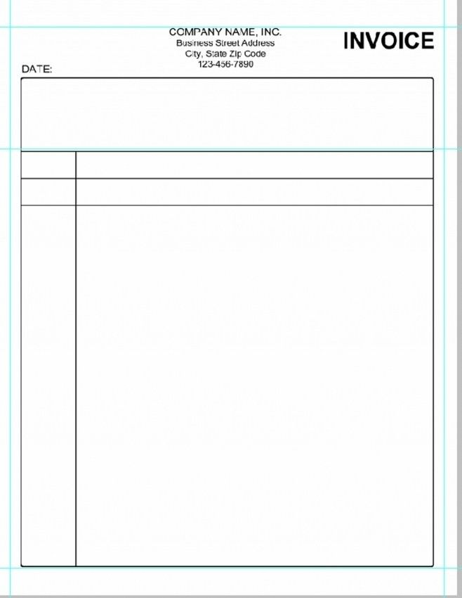 Simple Bill Format In Word Free Download | Design Invoice Template
