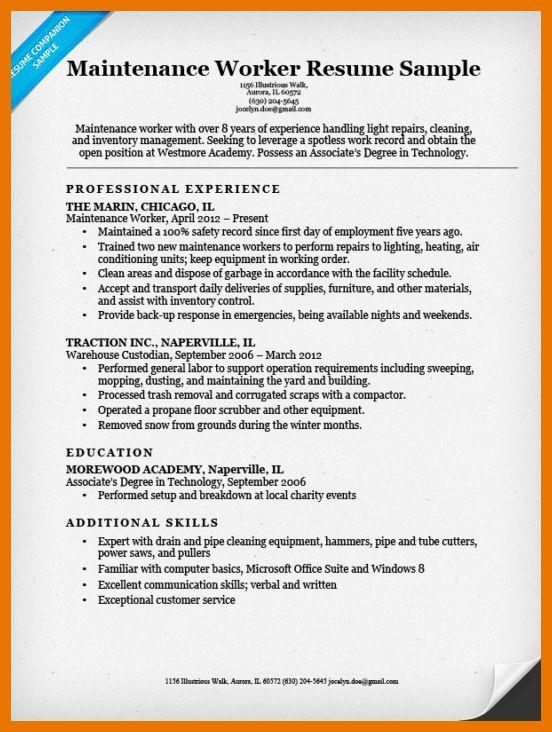 10+ maintenance resume sample | budget reporting