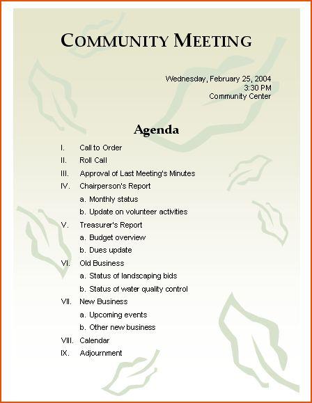 5+ meeting agenda format - bookletemplate.org