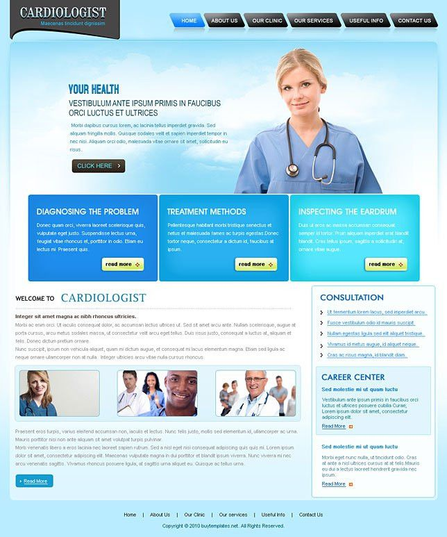 Css template simple for cardiologists