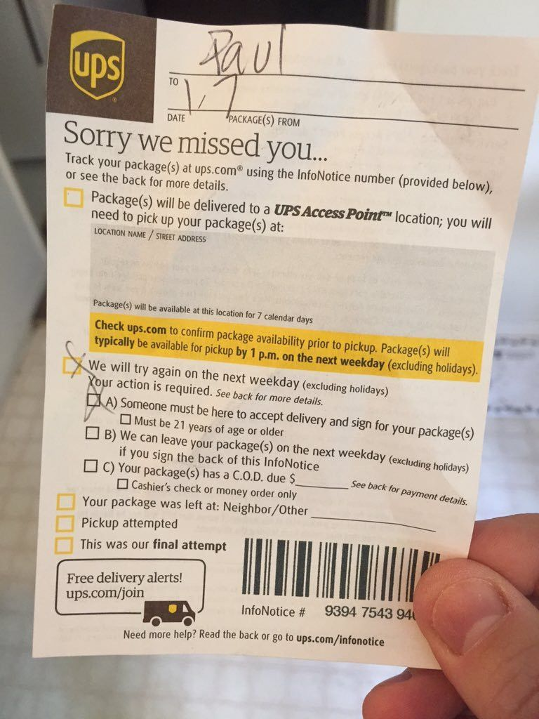 """Paul on Twitter: """"Hey #UPS what part of """"authorized"""" on shipment ..."""