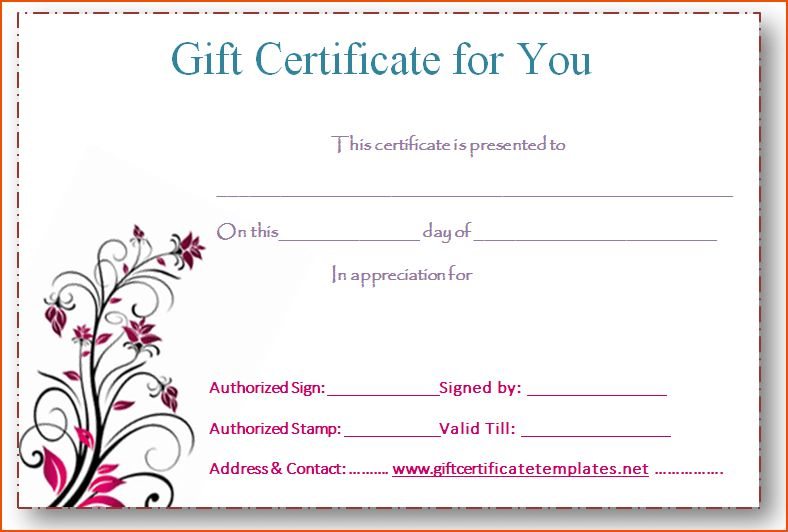6+ gift certificates templates - bookletemplate.org