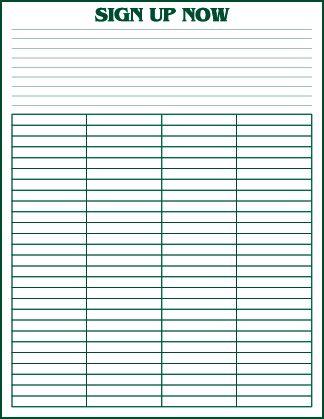 Sign-Up Sheets - JMK Sports