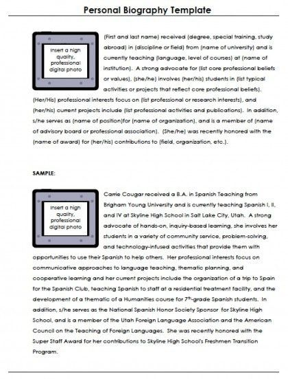 Biography Template. Short Biography Research Graphic Organizer ...