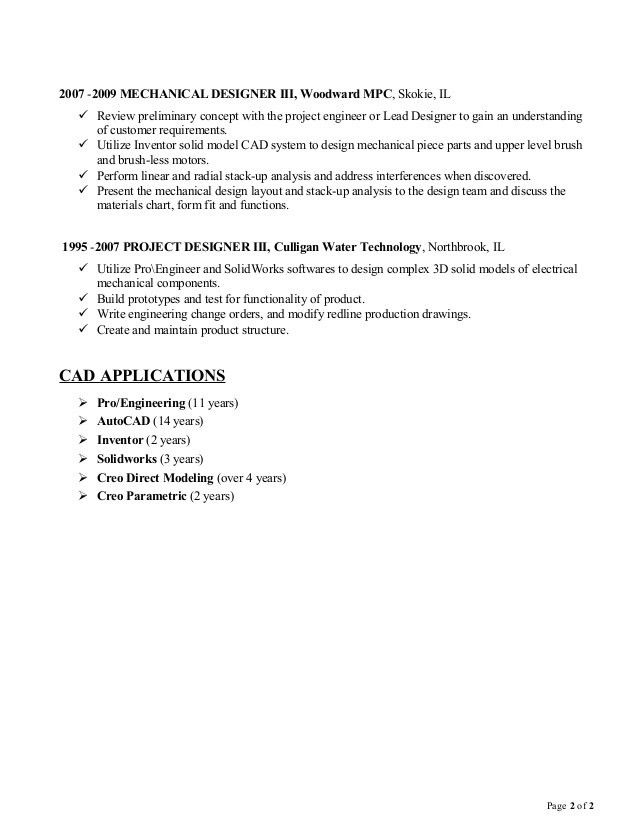 Steven Williams Design Engineer Resume