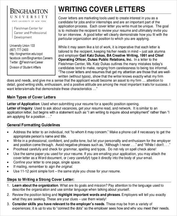 Cover Letter Template – 20+ Free Word, PDF Documents Download ...