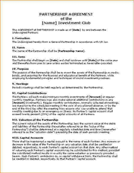8+ Investment Contract Template | Timeline Template