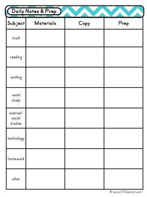 Classroom Schedule Template for Teachers | ... classroom support ...